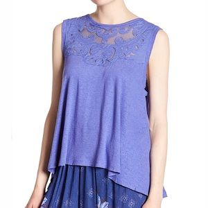 Free People Purple Lilac Meant to Be Swing Top/XS